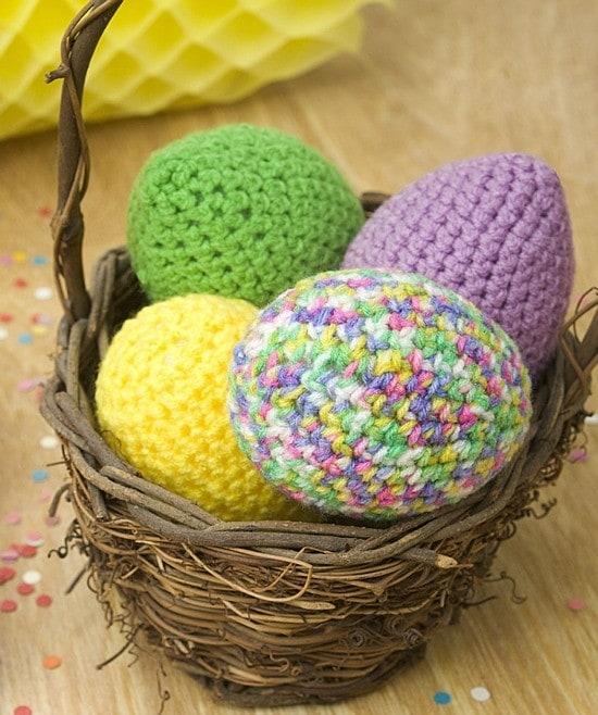 crochet eggs diy
