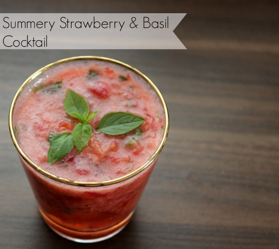 strawberry basil cocktail