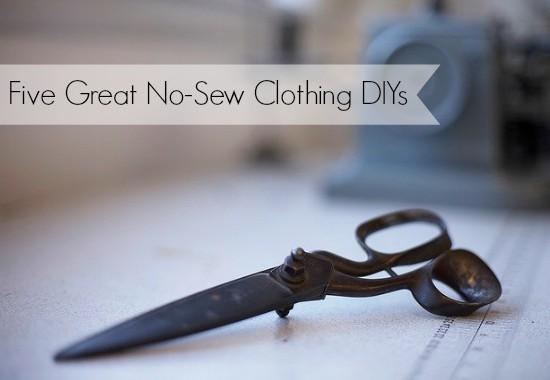 no sew clothing DIY
