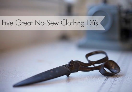 no sew clothing DIY