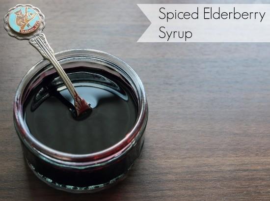 Delicious Spiced Elderberry Syrup