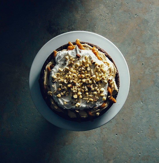 vegan salted caramel torte