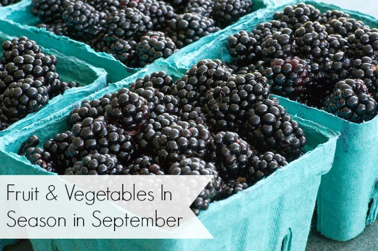 fruit vegetables in season in september