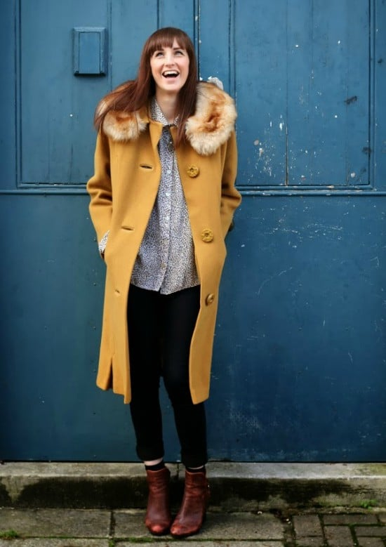 vintage mustard coat
