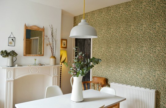 william morris wallpaper as part of my eco-friendly inspiration