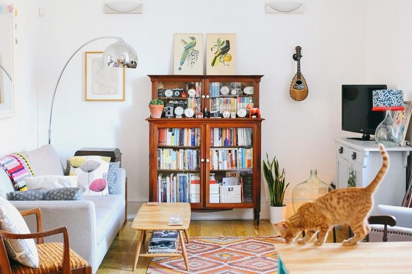 vintage styled living room