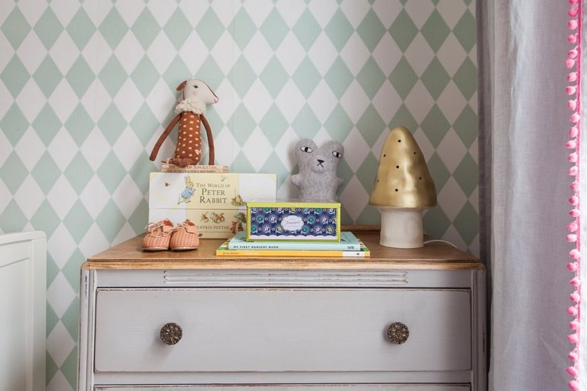 vintage style kids room in london house tour
