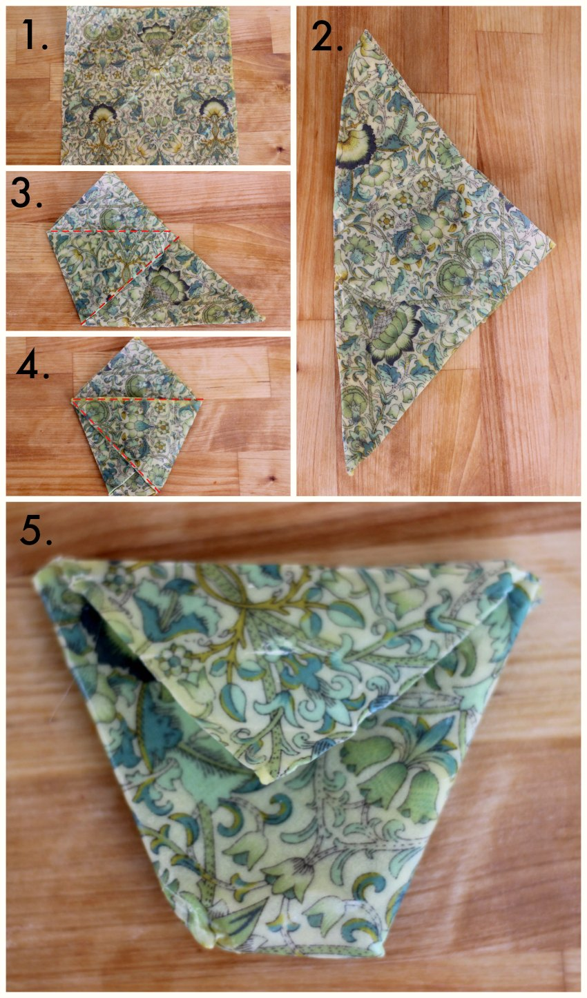 how to fold beeswax wraps uk