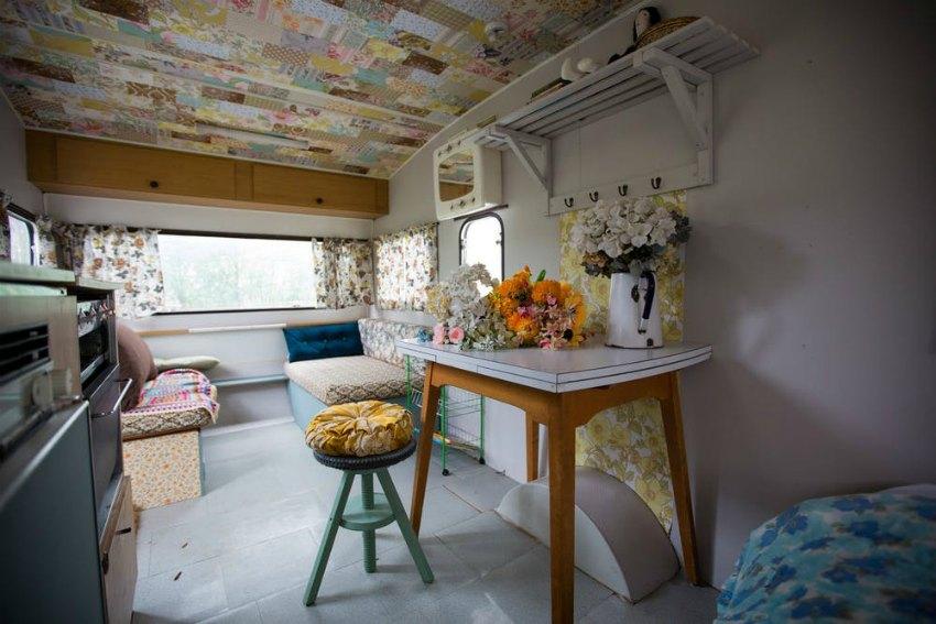 restored vintage caravan