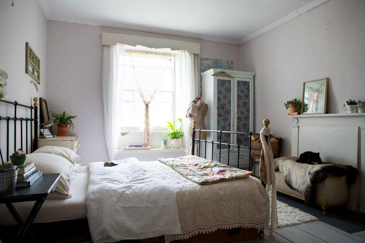 vintage styled bedroom