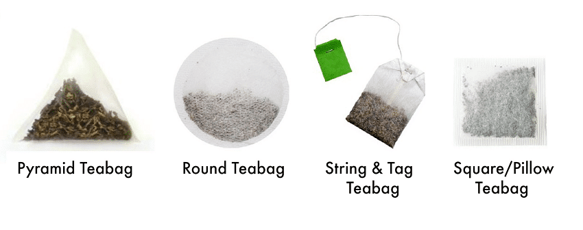 types of teabags