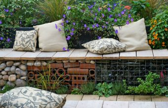 reclaimed garden seating