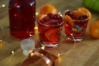 cranberry and orange gin