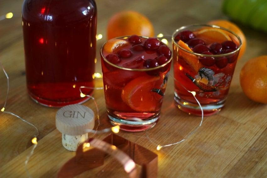 cranberry and orange gin