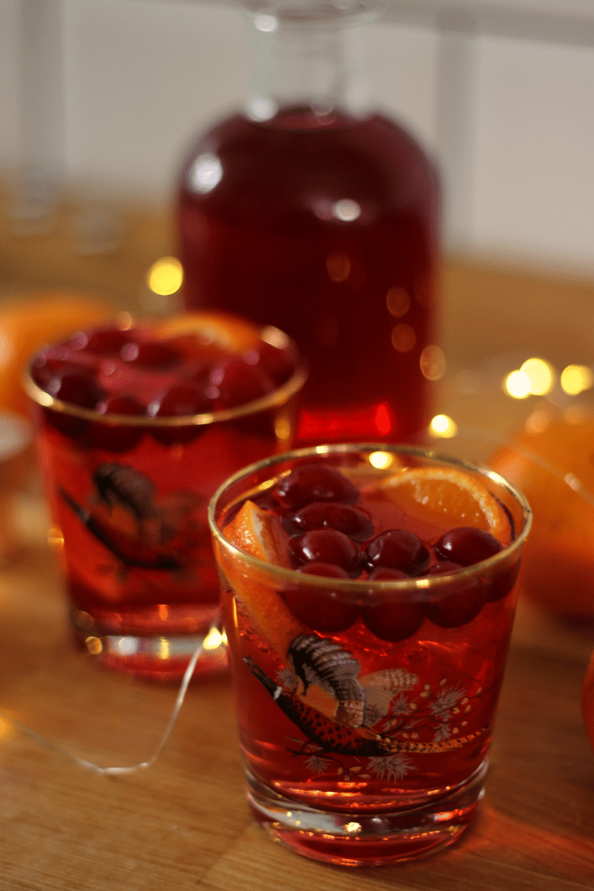 cranberry and orange infused gin recipe