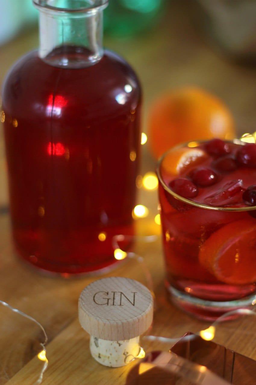 cranberry and orange Christmas gin recipe