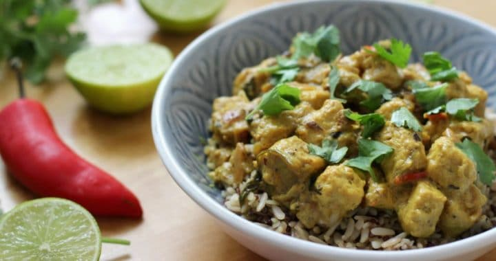 lime and coconut vegan curry