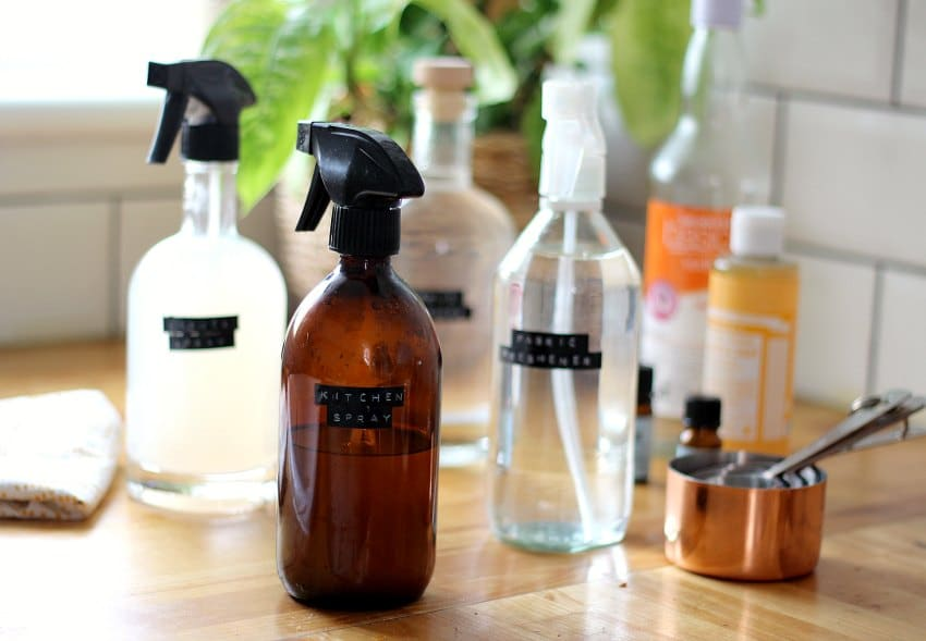 amber glass bottles for cleaning products