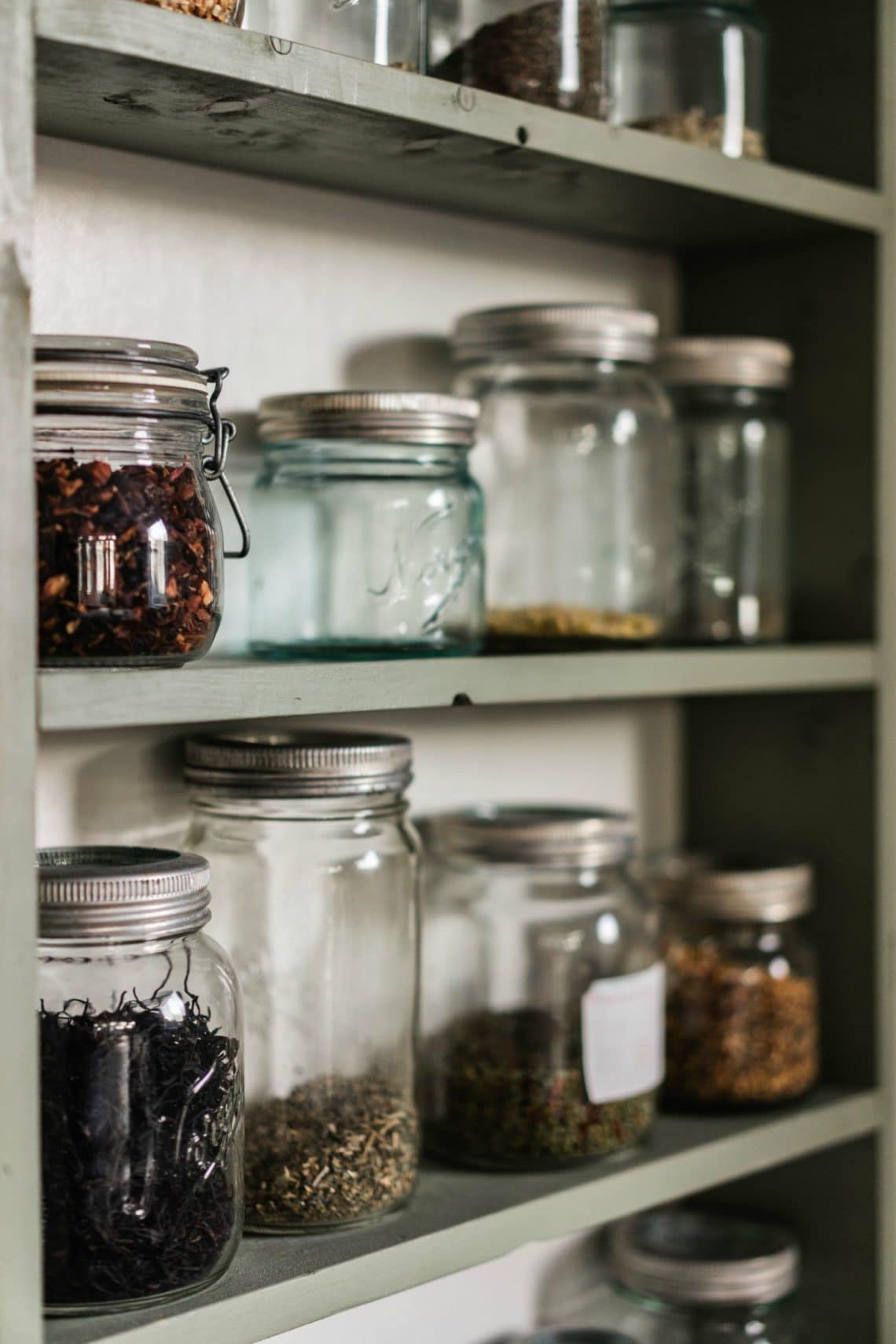 glass jar pantry