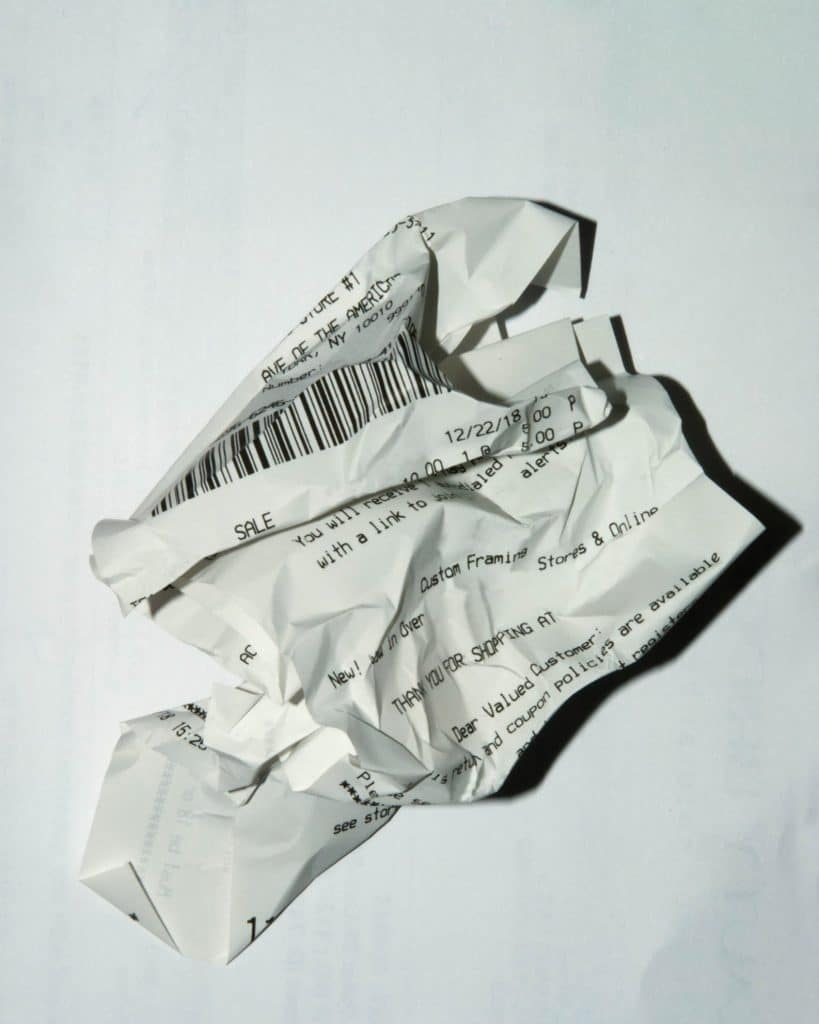 can you recycle receipts uk