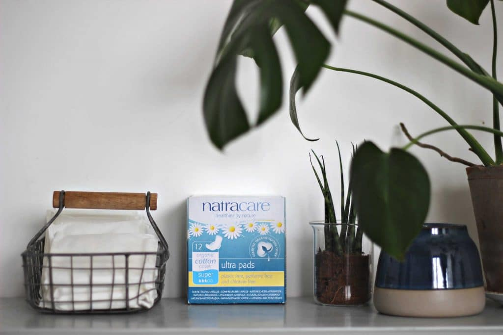 natracare plastic-free period products