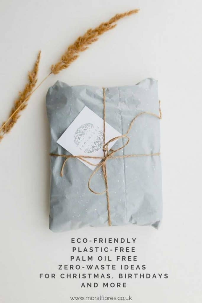 Eco-friendly, plastic-free, palm oil free, and zero waste gift ideas for christmas, birthdays, mothers day, fathers day and more.
