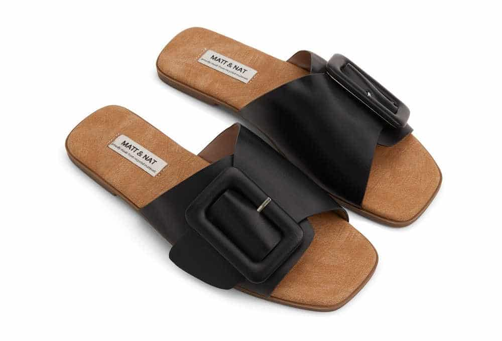 Matt and Nat vegan sandals in black