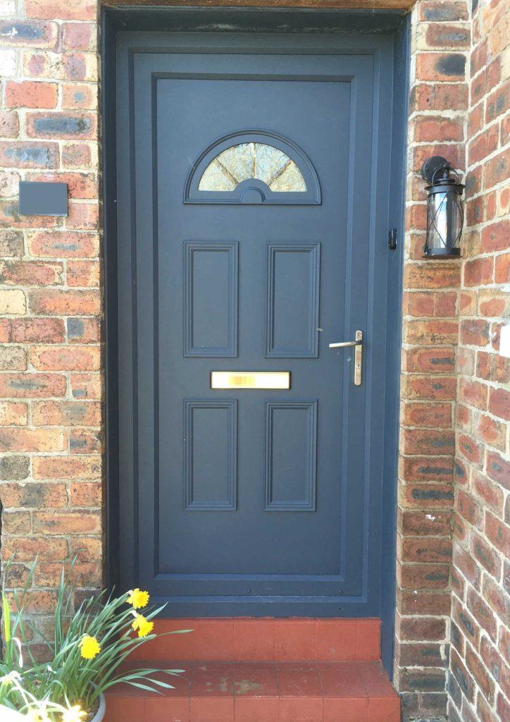 UPVC door painted with Zinnser All Coat Exterior paint