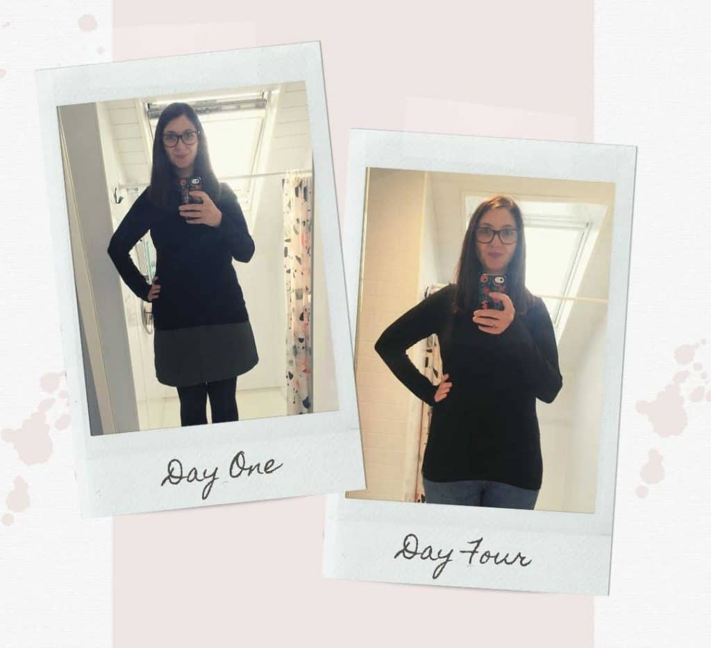 Wendy wearing BAM's bamboo top in the dare to wear challenge.