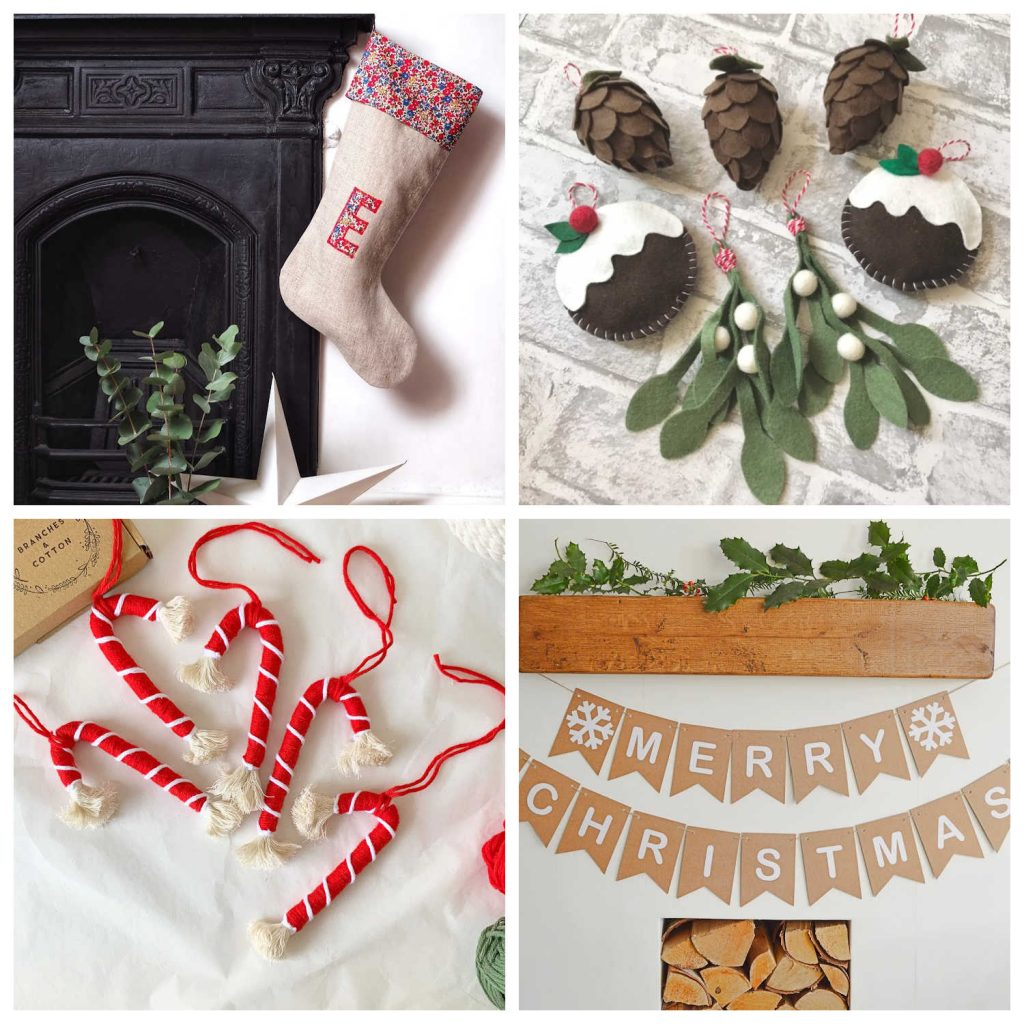 A range of ethical Christmas decorations from Etsy