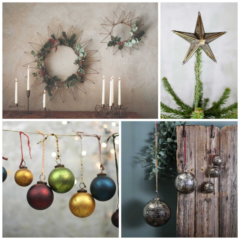 A range of Fairtrade decorations from Nkuku
