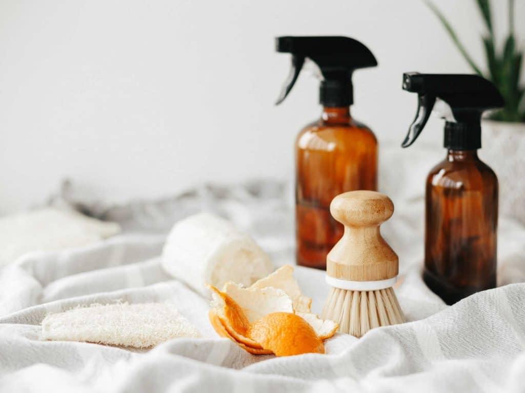 orange cleaning spray